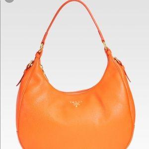 EUC Prada Daino Hobo in Orange